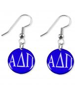 Colorful Sorority Disc Earrings