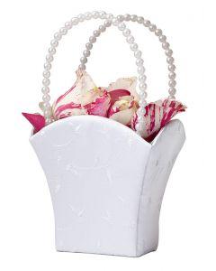 Pearl Elegance Flower Girl Basket
