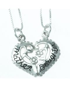 Mother and Daughter Breakaway Pendant Necklace Set