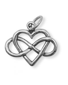 Sterling Silver Infinity Heart Charm