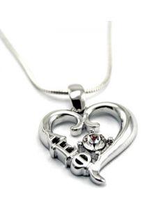 Alpha Epsilon Phi Swarovski Crystal Heart Pendant for Necklace