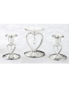 Crystal Heart Wedding Unity Candle Holders