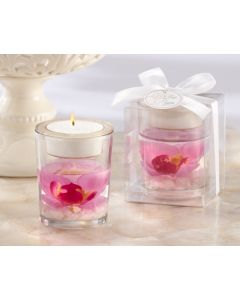 Pink Orchid Gel Candle Favor