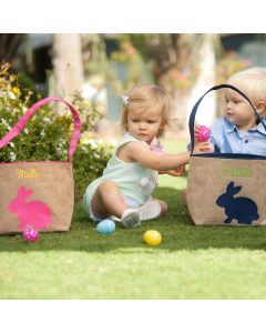 Personalized Burlap Easter Buckets