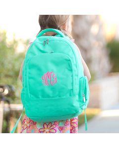 Girls Monogram Mint Backpack