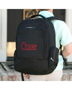 Black Personalized Backpack