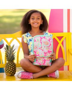 Monogrammed Pink Paisley Lunch Tote
