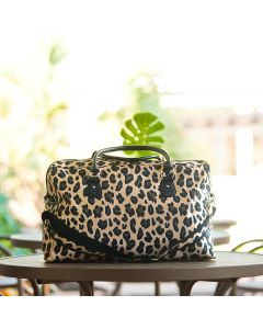 Personalized Leopard Print Weekender Travel Bag