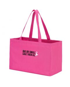 Breast Cancer Awareness Save Them All Large Pink Tote Bag