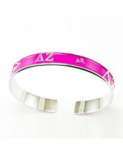 Delta Zeta Pink Bangle Bracelet