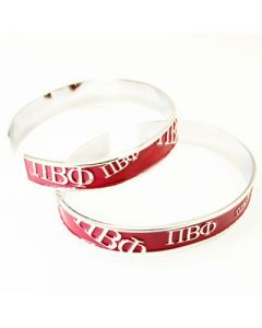 Pi Beta Phi Red Bangle Bracelet