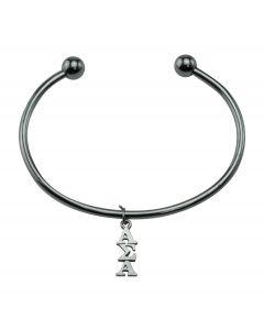 Alpha Sigma Alpha Bead Cuff Bracelet