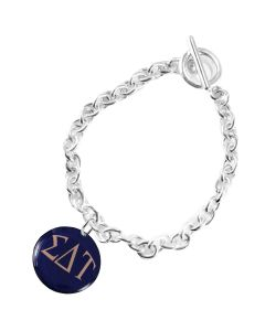 Colorful Sorority Charm Toggle Bracelet