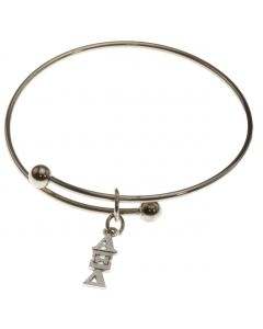 Adjustable Alpha Xi Delta Charm Bangle Bracelet