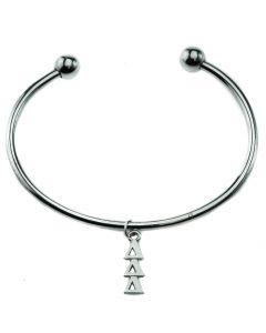 Tri Delta Delta Delta Bead Cuff Bracelet