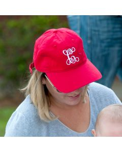 Monogrammed Red Baseball Cap Hat