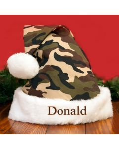 Personalized Camo Santa Hat