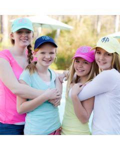 Kids Monogrammed Baseball Cap Hats