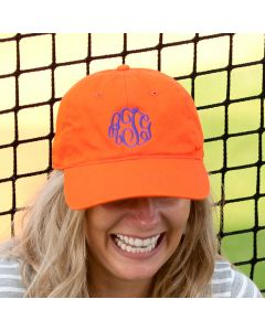 Orange Personalized Baseball Cap Hat