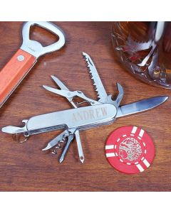 Mens Personalized Multi-Tool Pocket Knife