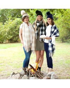 Monogrammed Buffalo Check Scarves