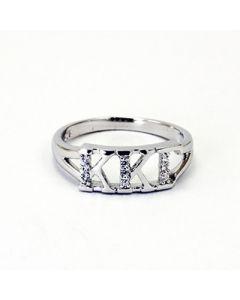 Kappa Kappa Gamma Greek Letter Ring with Diamonds