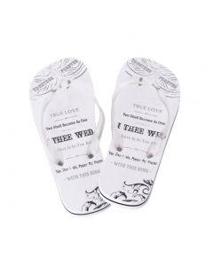 Bride Just Married Flip Flops for Honeymoon
