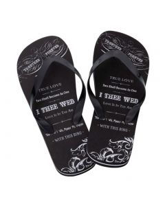 Groom Just Married Flip Flops for Honeymoon
