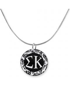 Damask Sorority Charm Necklace