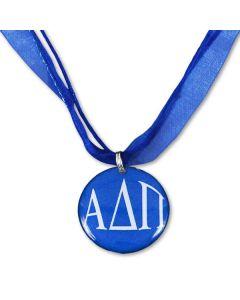 Alpha Delta Pi Blue Ribbon Necklace
