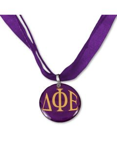 Delta Phi Epsilon Ribbon Necklace