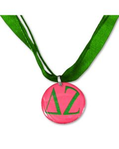 Delta Zeta Ribbon Necklace