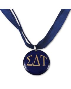Sigma Delta Tau Ribbon Necklace