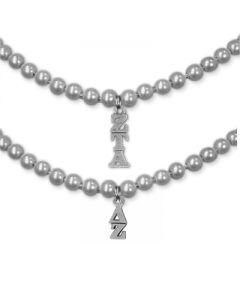 Sorority Charm Pearl Necklace