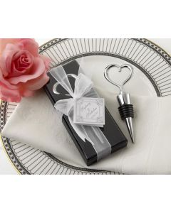 Silver Heart Wine Bottle Stopper