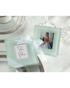 Frosted Glass Photo Coasters Favors