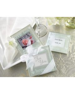 Good Wishes Photo Coasters Wedding Favors