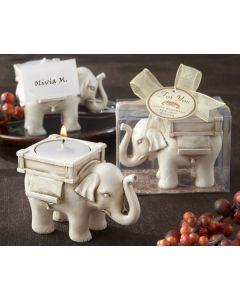 Ivory Elephant Placecard Holder Tealight Candle Favor