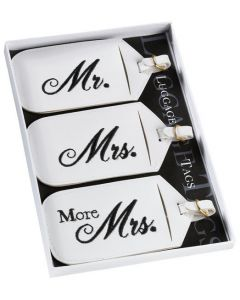 Mr. and Mrs. Honeymoon Luggage Tag Gift Set