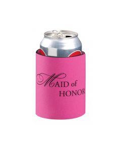 Pink Maid of Honor Koozie