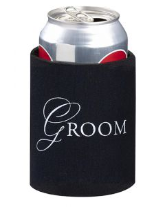 Black Groom Koozie