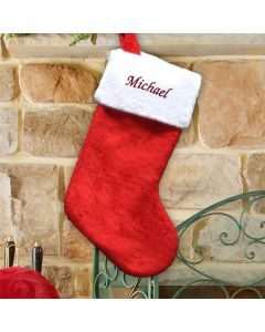 Personalized Red Christmas Stocking