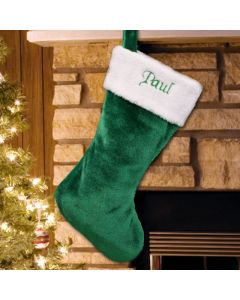 Personalized Green Christmas Stocking