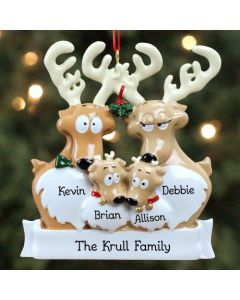 Personalized Reindeer Family Christmas Tree Ornament