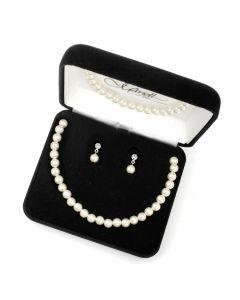 Pearl Bracelet, Necklace & Earrings Set