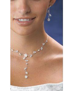 Crystal Flower Bridal Jewelry Set
