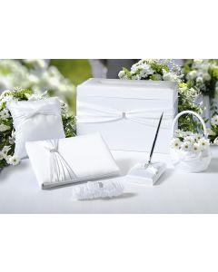 Sparkling Satin Wedding Decor Set