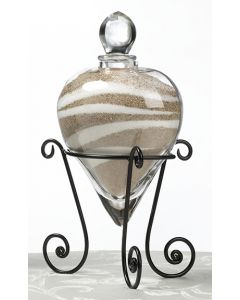 Heart-Shaped Wedding Unity Sand Vase and Stand