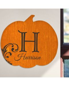 Personalized Pumpkin Wall Plaque for Fall
