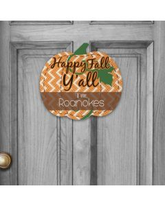 Personalized Pumpkin Wall Plaque Happy Fall Y'all